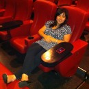 Kathy in the plush Canal Place Theater seats