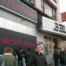 Rob Kohr in front of Tribeca Cinema