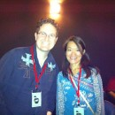 Rob Kohr and Chisa Hidaka who won Best Short for Dolphin Dance